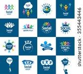 set of abstract vector logos... | Shutterstock .eps vector #355443446