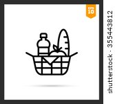 picnic basket icon | Shutterstock .eps vector #355443812