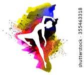 watercolor ballerina | Shutterstock .eps vector #355463318