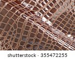 natural brown leather... | Shutterstock . vector #355472255