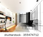 abstract sketch design of... | Shutterstock . vector #355474712