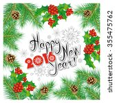 happy new 2016 year_postcard... | Shutterstock . vector #355475762
