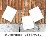 close up of three blank square... | Shutterstock . vector #355479152