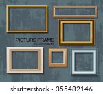 picture frame vector on wall | Shutterstock .eps vector #355482146