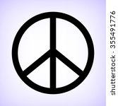 peace sign    black vector icon | Shutterstock .eps vector #355491776