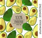 avocado concept | Shutterstock .eps vector #355492562