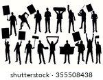 protest men silhouette. men...   Shutterstock .eps vector #355508438