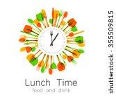 lunch time logo. restaurant ... | Shutterstock .eps vector #355509815