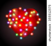 valentines heart card | Shutterstock .eps vector #355512575
