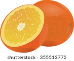 orange   citrus juicy fragrant... | Shutterstock . vector #355513772