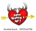 happy valentine's day greeting... | Shutterstock .eps vector #355516706