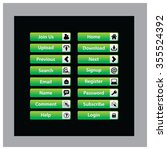 web design buttons theme | Shutterstock .eps vector #355524392