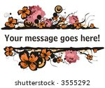 floral vector borders with... | Shutterstock .eps vector #3555292