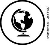 earth globe symbol | Shutterstock .eps vector #3555437