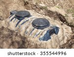 new 4000 liter domestic septic... | Shutterstock . vector #355544996