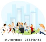 vector illustration of people... | Shutterstock .eps vector #355546466