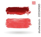 brush stroke and texture.... | Shutterstock .eps vector #355549085