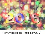 happy new year 2016. abstract... | Shutterstock . vector #355559372