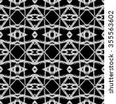 aztec seamless pattern. ikat... | Shutterstock .eps vector #355563602
