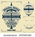 old card design with elements  | Shutterstock .eps vector #355569182