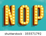 vector retro  letters with... | Shutterstock .eps vector #355571792