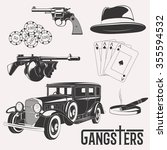isolated gangster set image on... | Shutterstock . vector #355594532