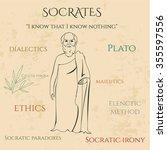 ancient greek scientist ... | Shutterstock .eps vector #355597556