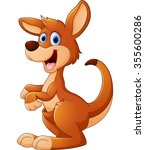 kangaroo cartoon | Shutterstock .eps vector #355600286