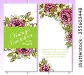 vintage delicate invitation... | Shutterstock .eps vector #355603448