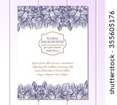 invitation with floral... | Shutterstock .eps vector #355605176