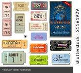 vector set  tickets in... | Shutterstock .eps vector #35561929