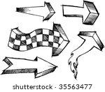 sketchy arrows vector... | Shutterstock .eps vector #35563477