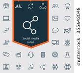 social media outline  thin ...   Shutterstock . vector #355643048