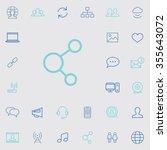 social media outline  thin ...   Shutterstock . vector #355643072
