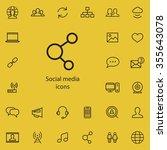 social media outline  thin ...   Shutterstock . vector #355643078