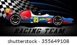 racing team open wheel race car ...   Shutterstock .eps vector #355649108