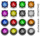 set of disabilities glossy web...
