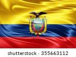 ecuador flag of silk    Shutterstock . vector #355663112