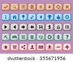 game interface buttons set  app ... | Shutterstock .eps vector #355671956