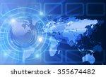 best internet concept of global ...   Shutterstock . vector #355674482