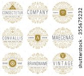 luxury logo templates set in... | Shutterstock .eps vector #355675232