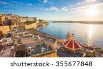 sunrise at the grand harbour of ... | Shutterstock . vector #355677848