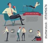 how to relax between work.... | Shutterstock .eps vector #355690676