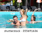 young people having fun in the... | Shutterstock . vector #355691636