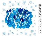 winter sale banner. calligraphy.... | Shutterstock . vector #355698032