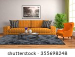 interior with sofa. 3d... | Shutterstock . vector #355698248