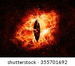 Burning Evil Eye In Space  ...