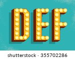 vector retro  letters with... | Shutterstock .eps vector #355702286