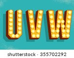 vector retro  letters with... | Shutterstock .eps vector #355702292