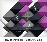 paper style design templates ... | Shutterstock .eps vector #355707155
